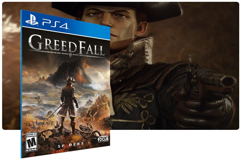 Banner do game GreedFall para PS4