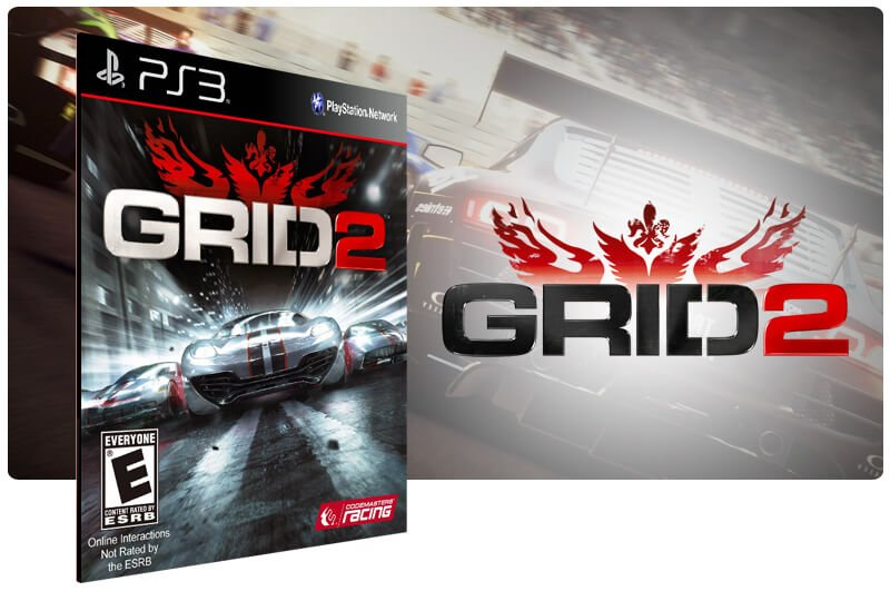 Banner do game Grid 2 para PS3