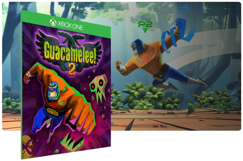 Banner do game Guacamelee! 2 em mídia digital para Xbox One