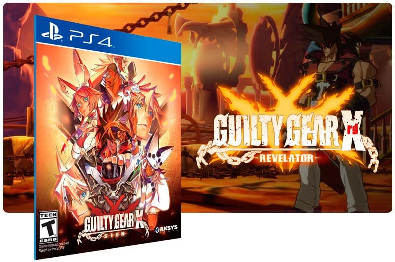 Banner do game Guilty Gear Xrd Revelator para PS4