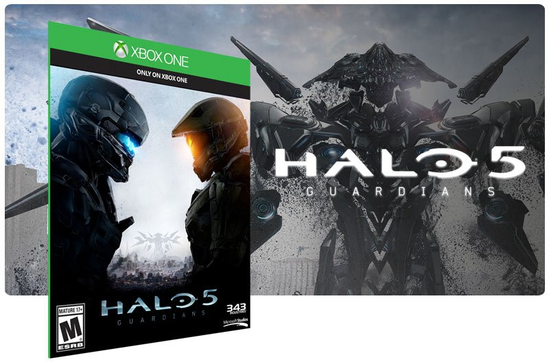 Banner do game Halo 5 Guardians em mídia digital para Xbox One