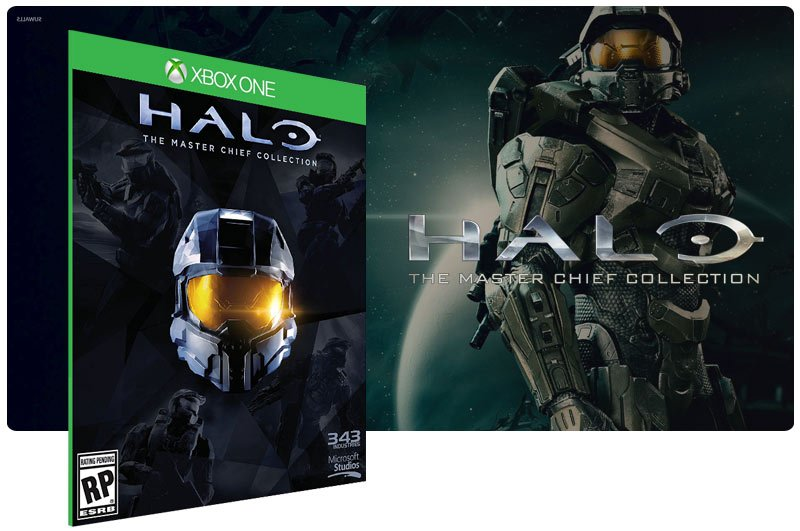 Banner do game Halo: The Master Chief Collection Digital em mídia digital para Xbox One