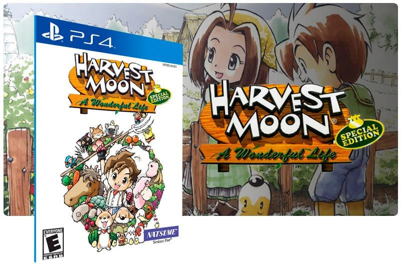 Banner do game Harvest Moon A Wonderful Life Special Edition para PS4