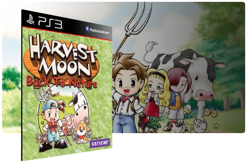Banner do game Harvest Moon Back To Nature (Psone Classic) para PS3