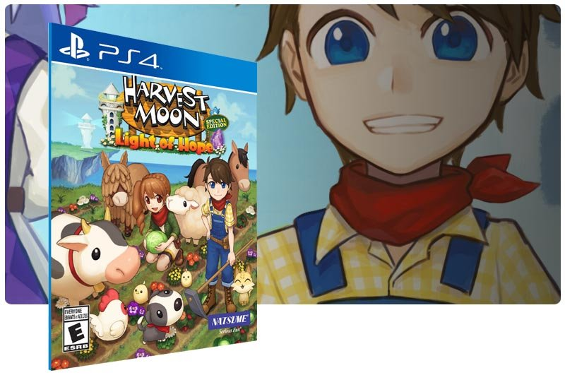 Banner do game Harvest Moon Light of Hope Special Edition em mídia digital para PS4