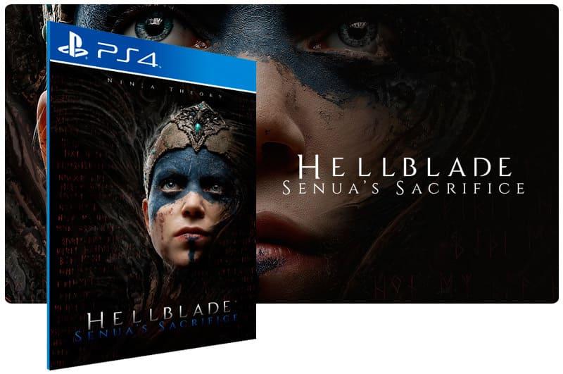 Banner do game Hellblade Senuas Sacrifice para PS4
