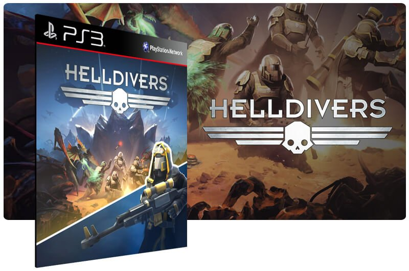 Banner do game Helldivers para PS3