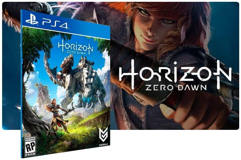 Banner do game Horizon Zero Dawn para PS4