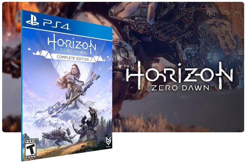 Banner do game Horizon Zero Dawn Complete Edition em mídia digital para PS4