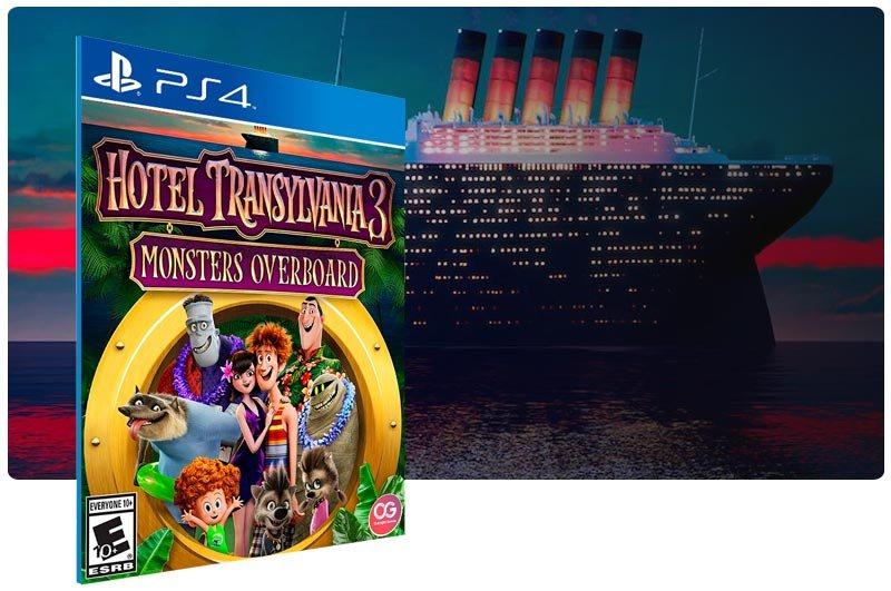 Banner do game Hotel Transylvania 3 Monsters Overboard para PS4