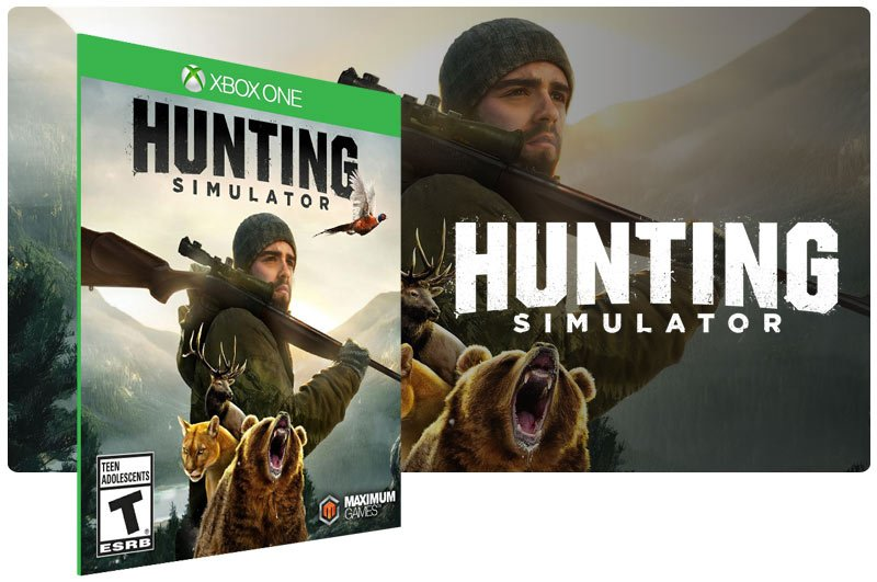 Banner do game Hunting Simulator em mídia digital para Xbox One