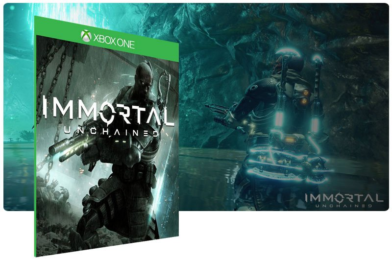 Banner do game Immortal: Unchained em mídia digital para Xbox One