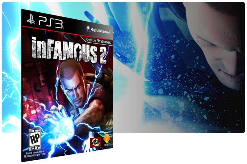 Banner do game Infamous 2 para PS3