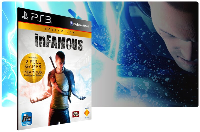 Banner do game Infamous Collection para PS3