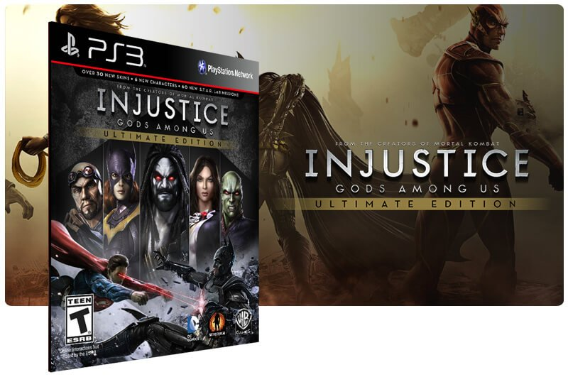 Banner do game Injustice Gods Among Us Ultimate Edition para PS3