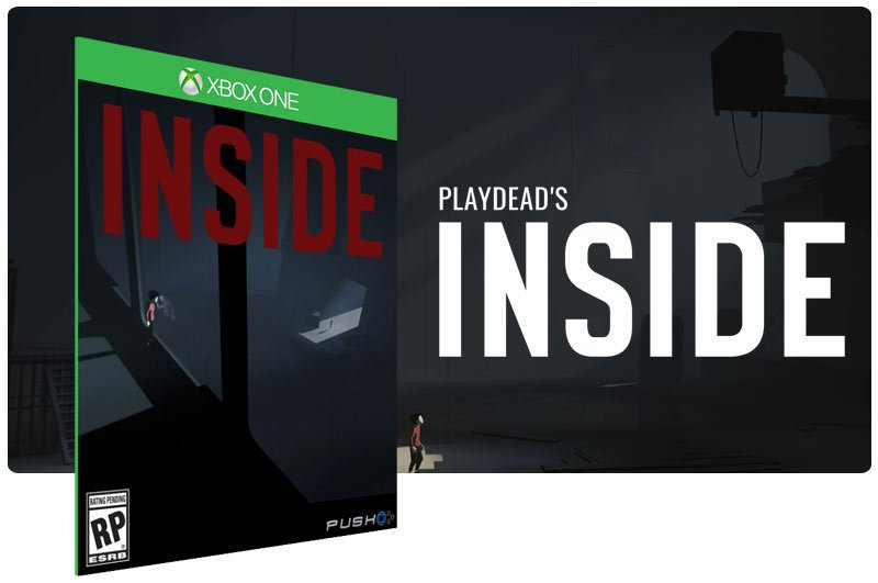 Banner do game Inside em mídia digital para Xbox One