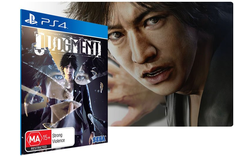 Banner do game Judgment para PS4