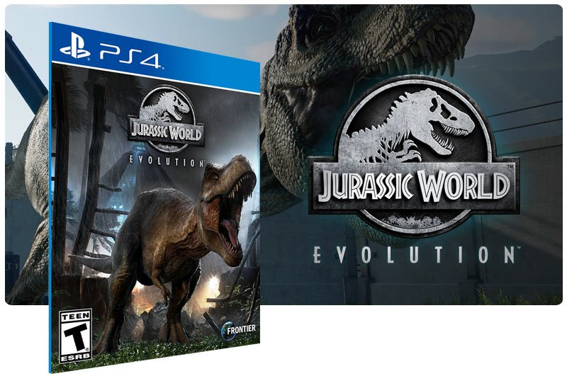 Banner do game Jurassic World Evolution em mídia digital para PS4