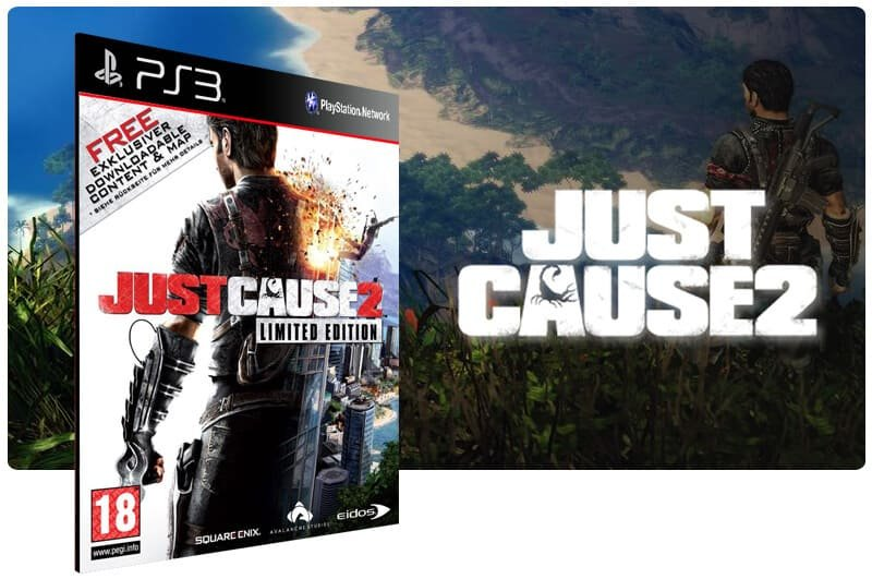 Banner do game Just Cause 2 Ultimate Edition para PS3