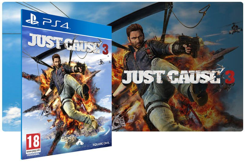Banner do game Just Cause 3 para PS4