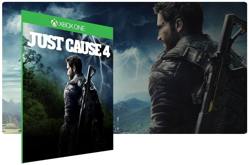 Banner do game Just Cause 4 Standard Edition em mídia digital para Xbox One