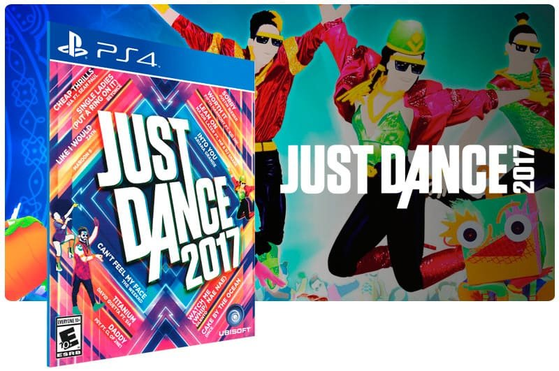 Banner do game Just Dance 2017 para PS4