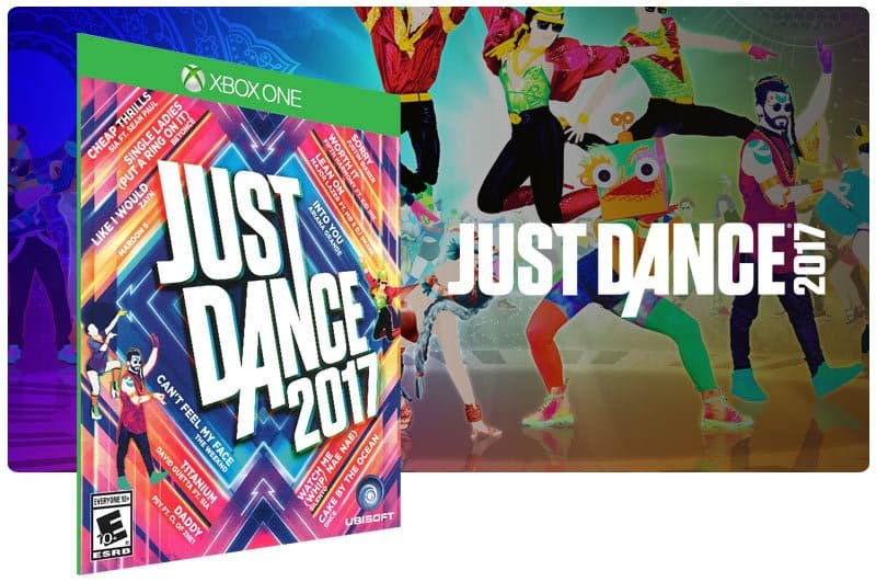 Banner do game Just Dance 2017 em mídia digital para Xbox One