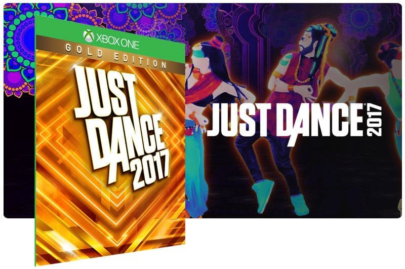 Banner do game Just Dance 2017: Gold Edition em mídia digital para Xbox One