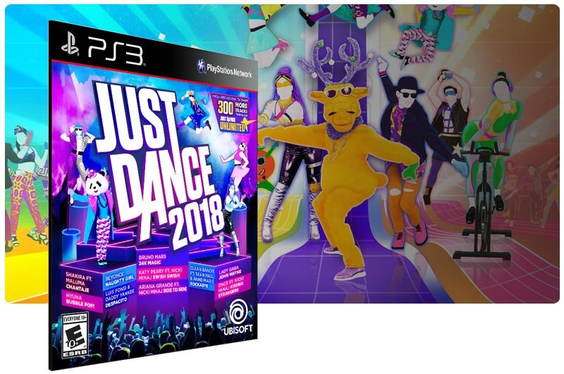 Banner do game Just Dance 2018 para PS3