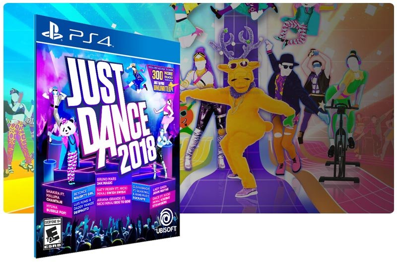 Banner do game Just Dance 2018 para PS4