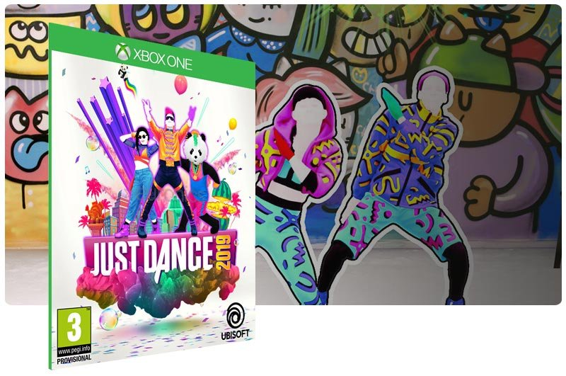 Banner do game Just Dance 2019 em mídia digital para Xbox One