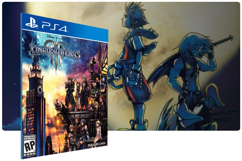 Banner do game KINGDOM HEARTS III para PS4
