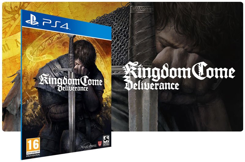 Banner do game Kingdom Come Deliverance em mídia digital para PS4