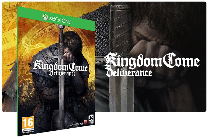 Banner do game Kingdom Come Deliverance em mídia digital para Xbox One