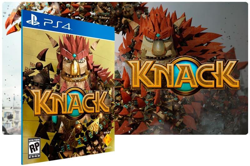 Banner do game Knack para PS4