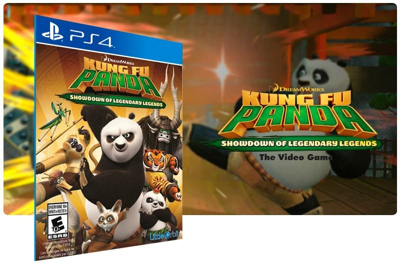 Banner do game Kung Fu Panda Showdown Of Legendary Legends para PS4