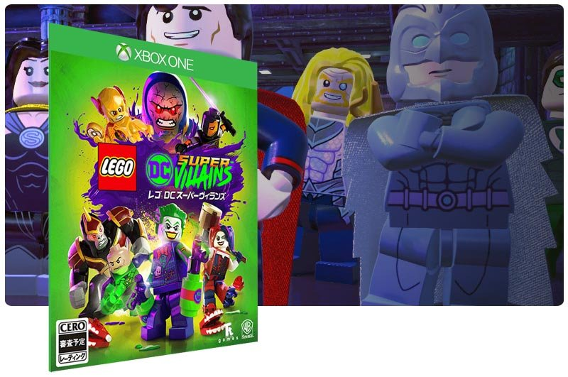 Banner do game LEGO DC Super-Vilões em mídia digital para Xbox One