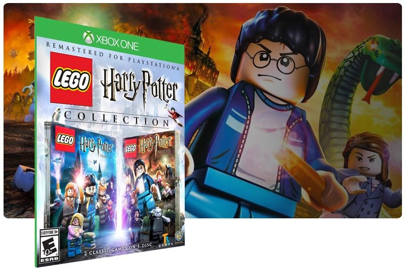 Banner do game LEGO Harry Potter Collection em mídia digital para Xbox One