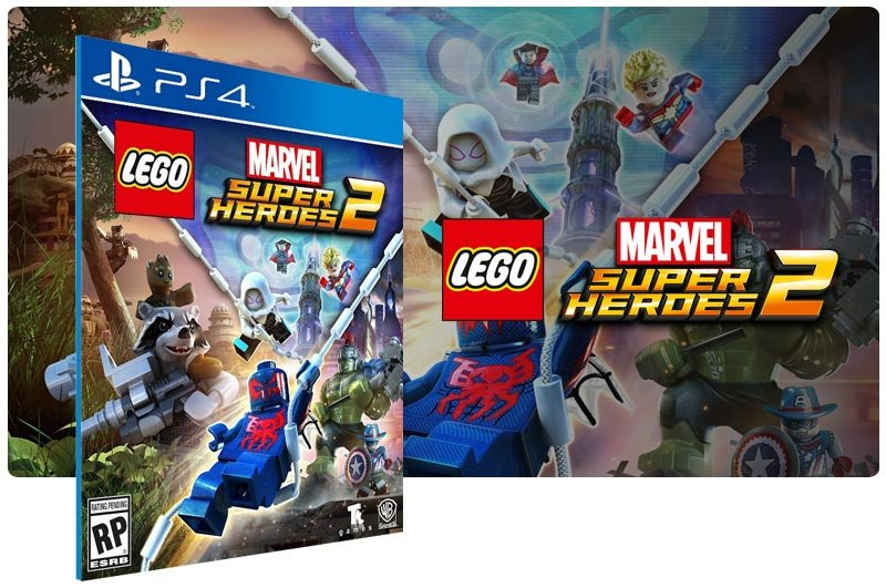 Banner do game LEGO Marvel Super Heroes 2 para PS4
