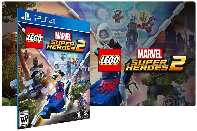 Banner do game LEGO Marvel Super Heroes 2 para PS4