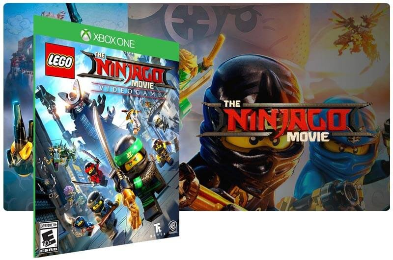 Banner do game Lego Ninjago Movie Video Game em mídia digital para Xbox One