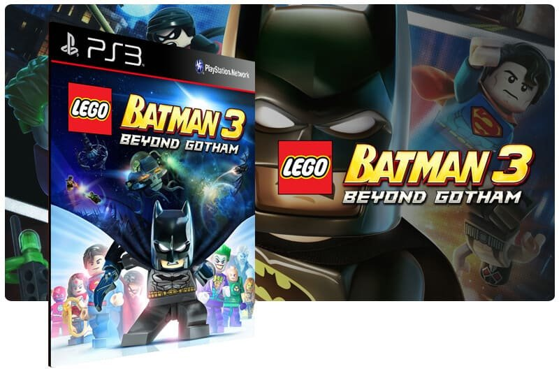Banner do game Lego Batman 3 Beyond Gotham para PS3