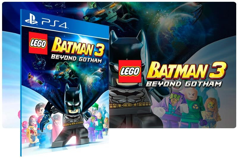 Banner do game Lego Batman 3 Beyond Gotham para PS4