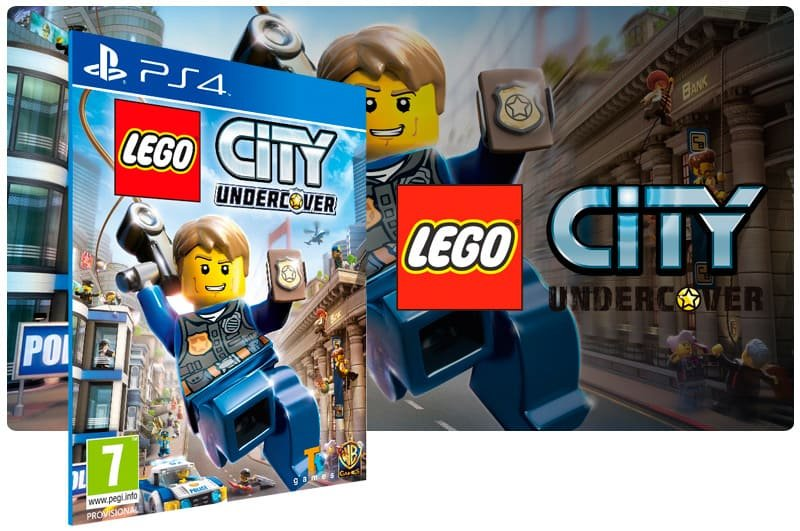 Banner do game Lego City Undercover para PS4