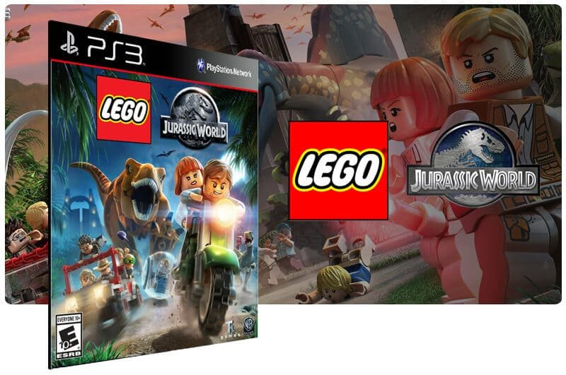 Banner do game Lego Jurassic World para PS3
