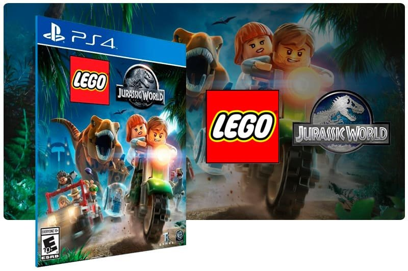 Banner do game Lego Jurassic World para PS4
