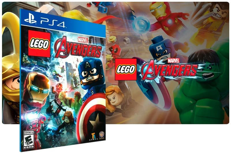 Banner do game Lego Marvel Avengers para PS4
