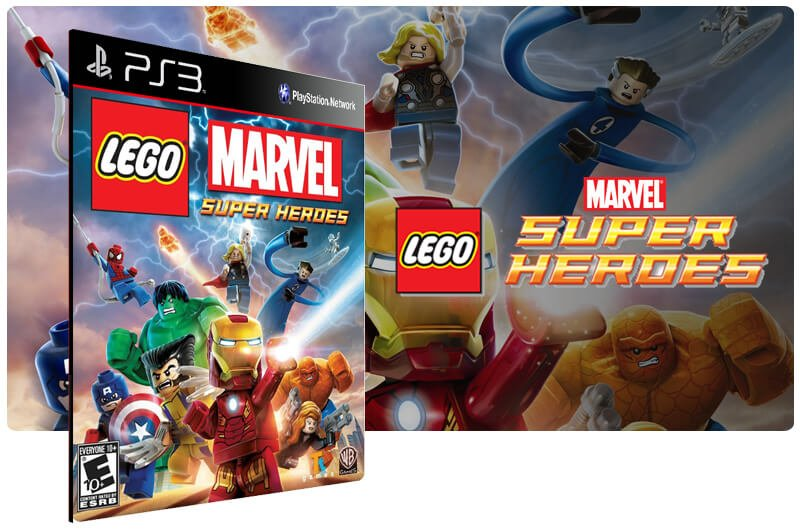 Banner do game Lego Marvel Super Heroes para PS3