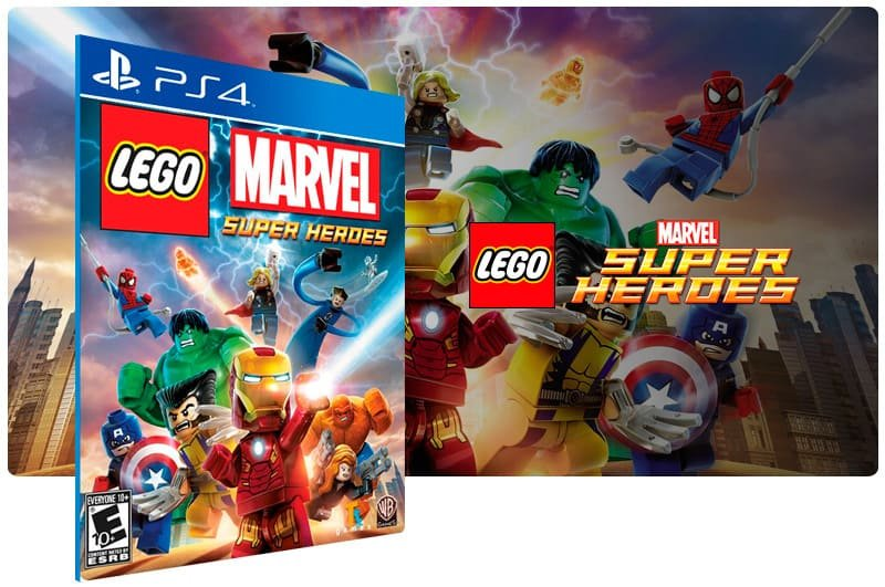Banner do game Lego Marvel Super Heroes para PS4