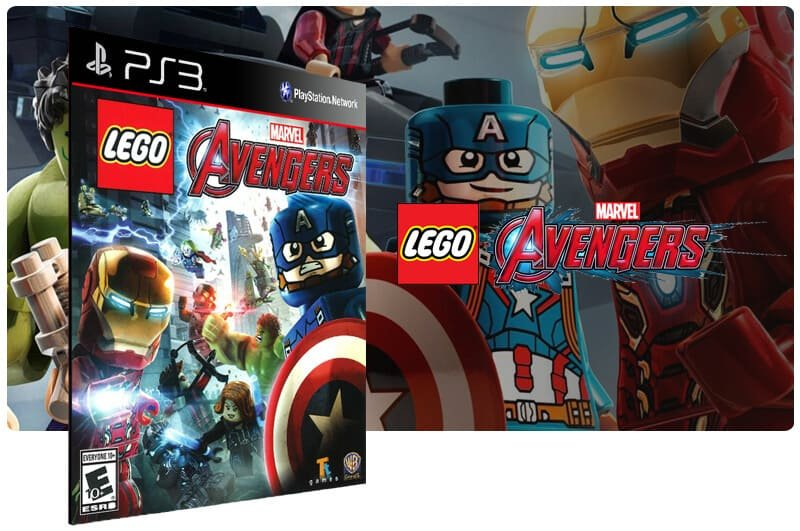 Banner do game Lego Marvels Avengers para PS3